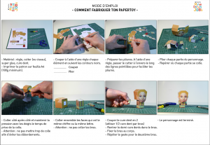 How to build up a papertoy.