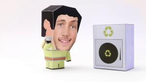 Toonyou Papa et son camion protègent la nature en recyclant les poubelles. C'est un Ninja recycleur !